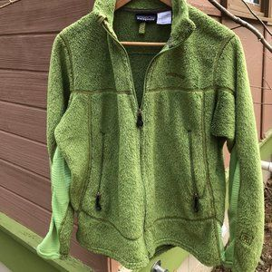 Womens Grass Green Patagonia Fleece Zip Jkt - L